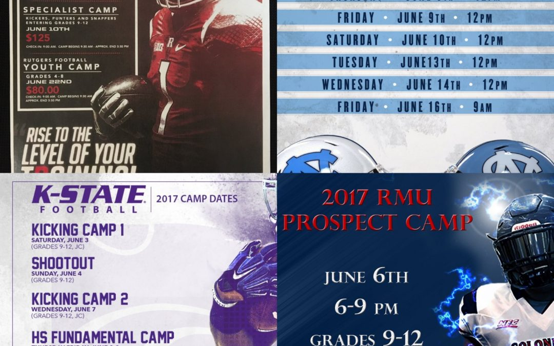 2017 College Summer Camps